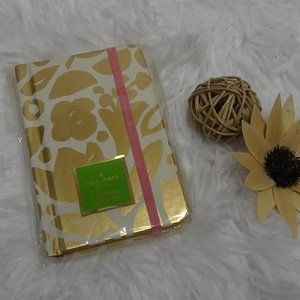 Kate Spade Golden Floral Mini Notebook With Pen